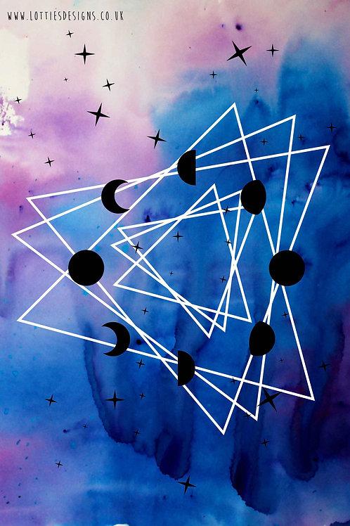 Moon Phase Path - Print