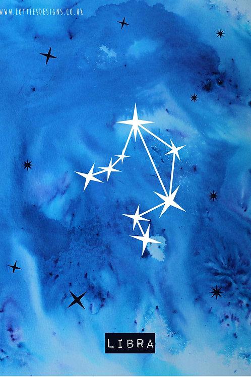 Libra - Zodiac Star Sign Print