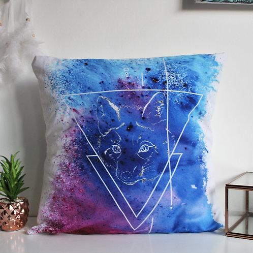 White Fox Cushion Cover