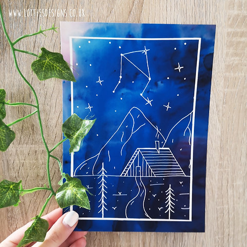 Zodiac Constellation Cabin Print