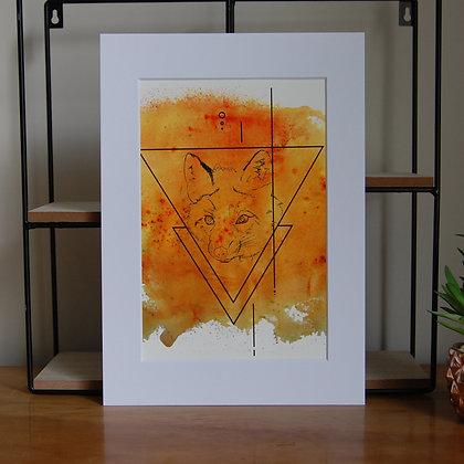 Orange Fox Print LD