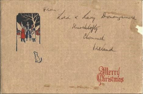 Christmas Card sent to W.B. Simon de Silva from Lord & Lady Donoughmore (Governed Ceylon during British Rule)