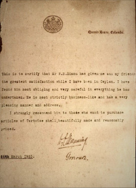 Letter of recommendation by Governor William Manning.