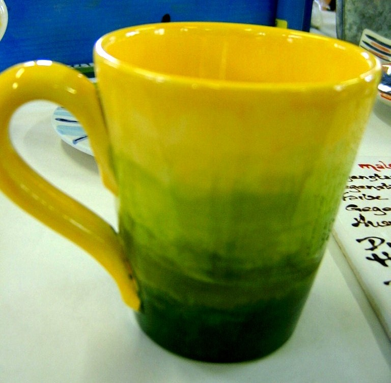 shauna's yellow-to-green cup