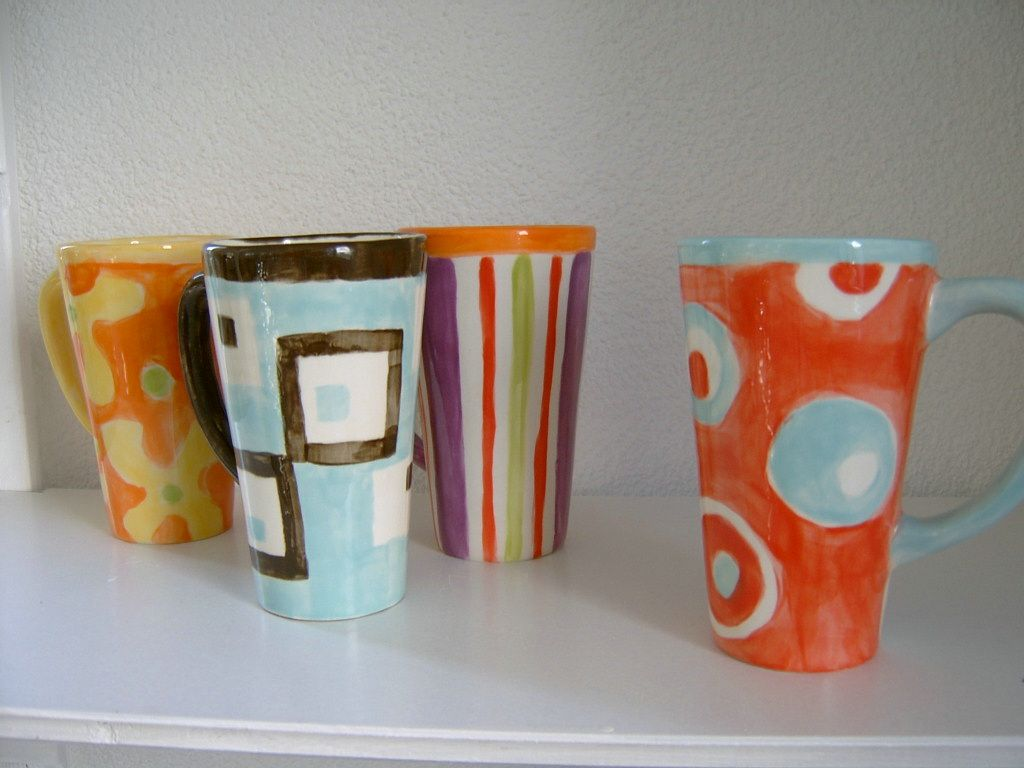 first sample cups glazed and fired