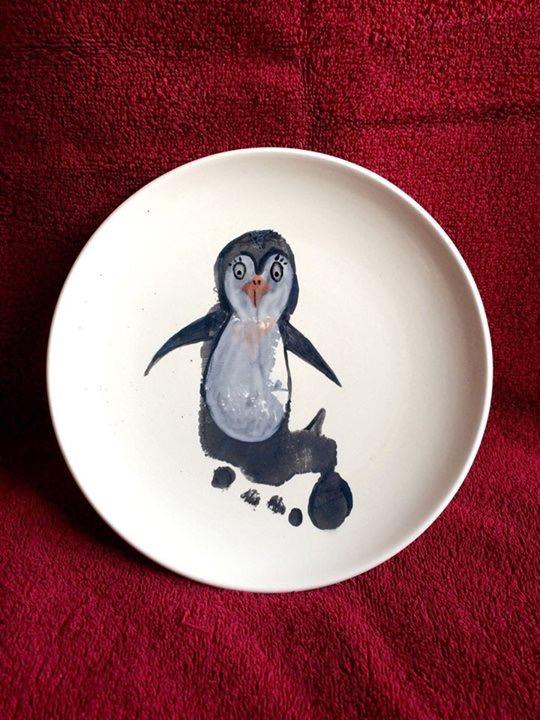 kleiner pinguin fussabdruck