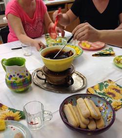 ladies' night mit schoggi fondue