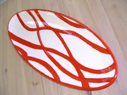ovale platte z tischtuch