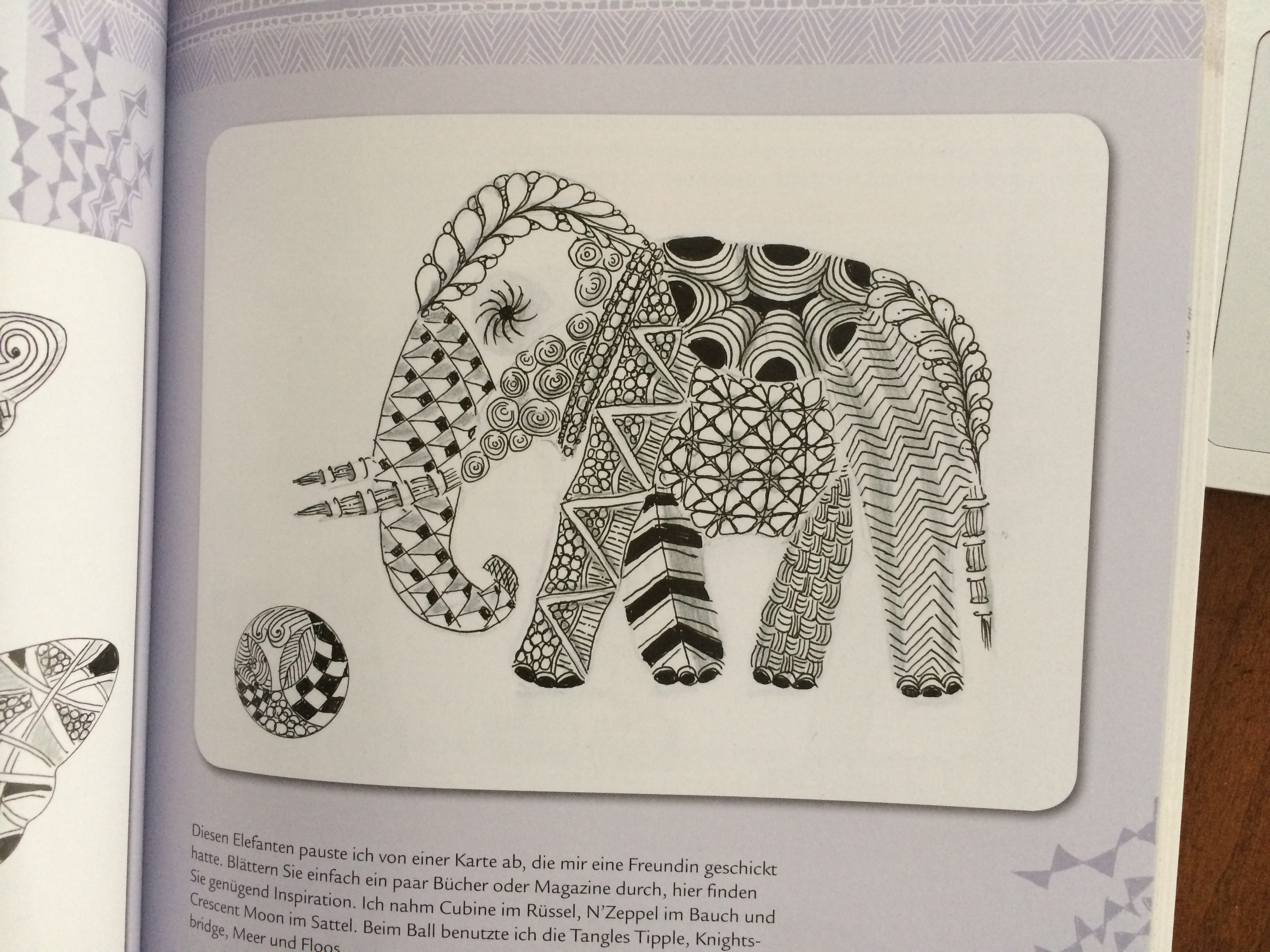 zentangle elefant