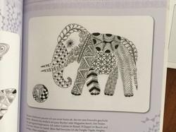 zentangle elefant