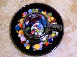 espresso set mit konfetti