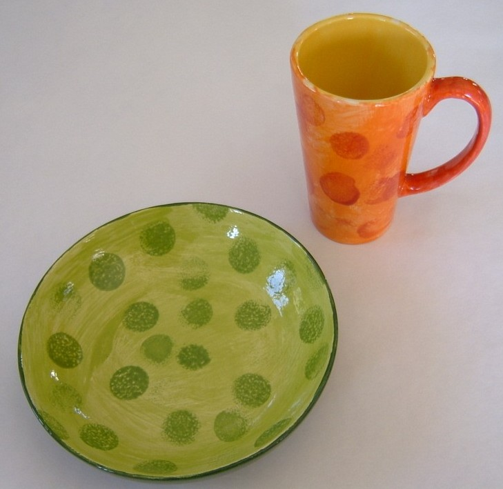 dotted breakfast (by 2 yr old!)