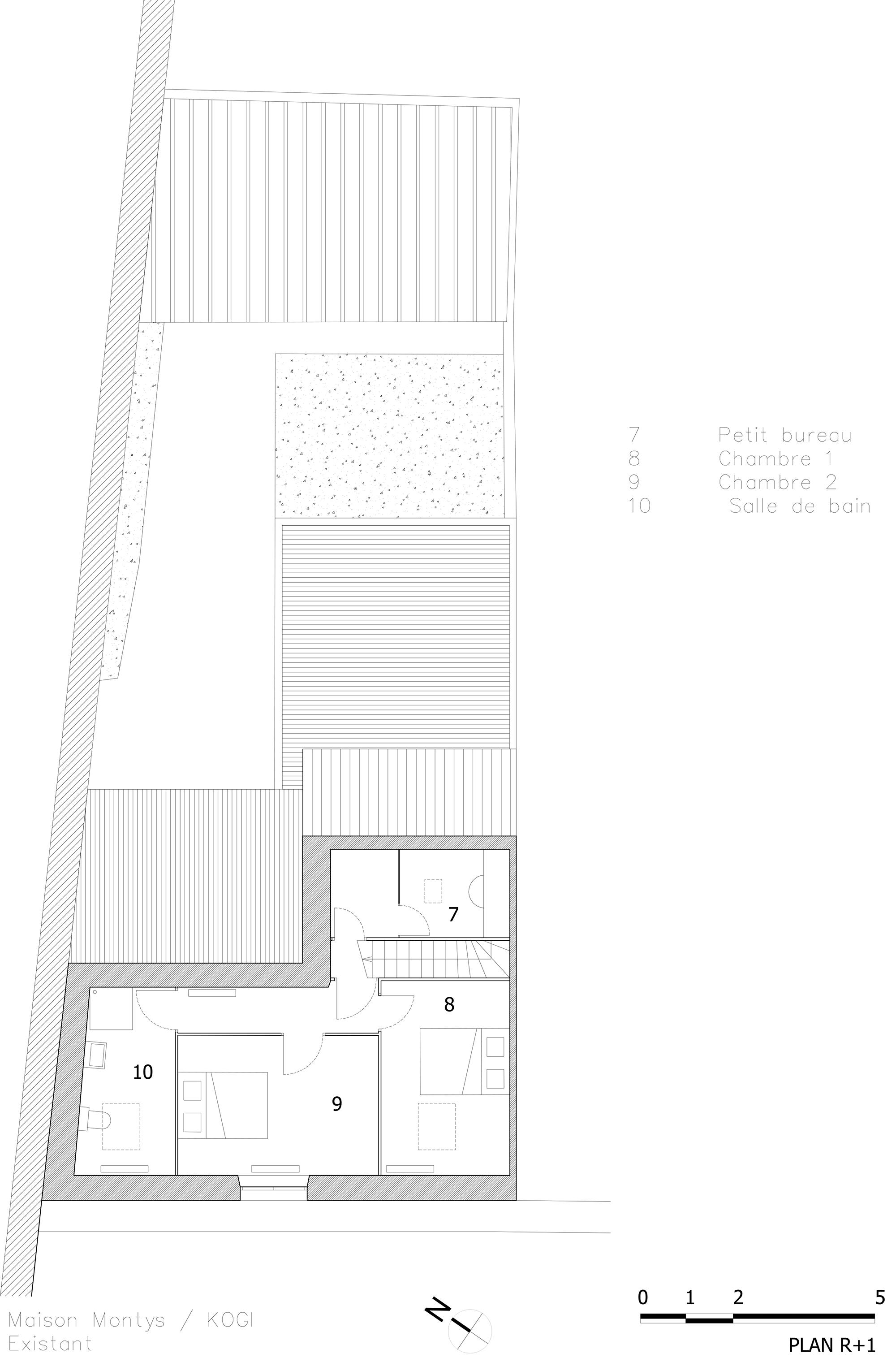 KOGI-Maison Montys - Existant - Plan R+1