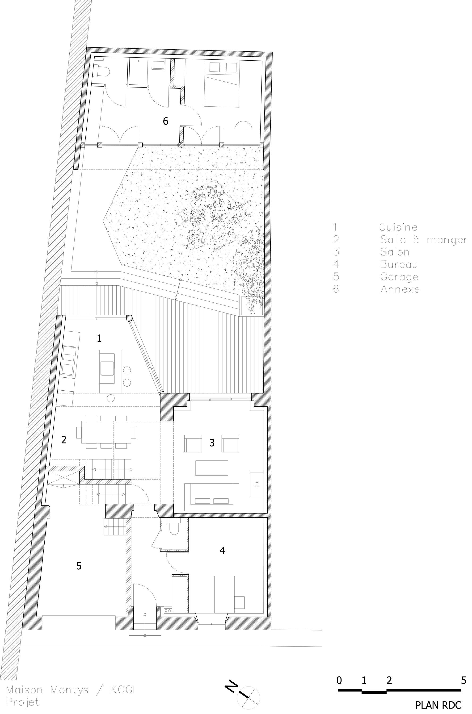 KOGI-Maison Montys - Projet - Plan RDC