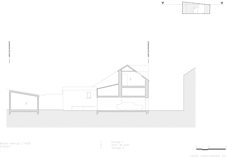 KOGI-Maison Montys - Existant - Coupe AA