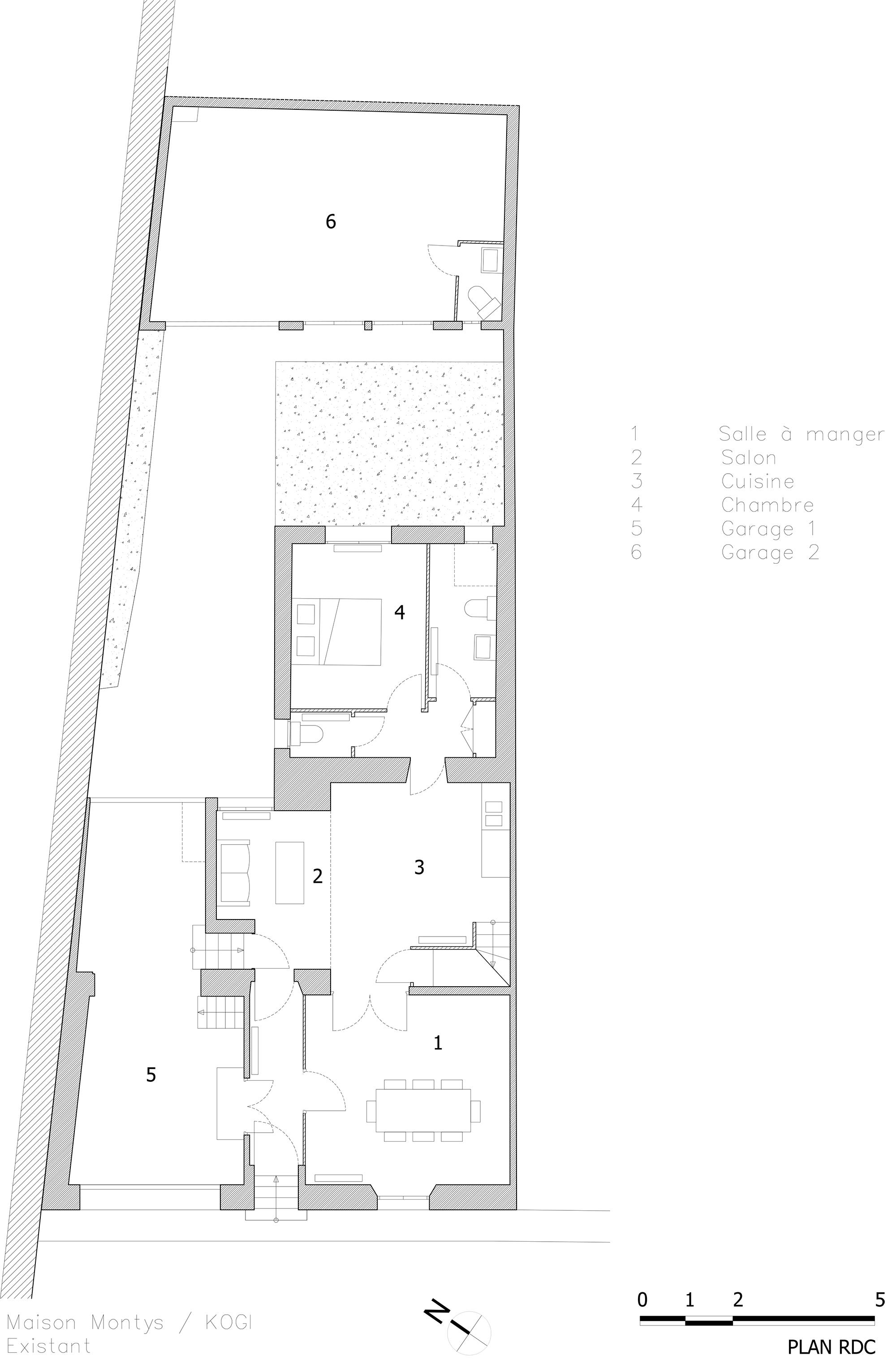 KOGI-Maison Montys - Existant - Plan RDC