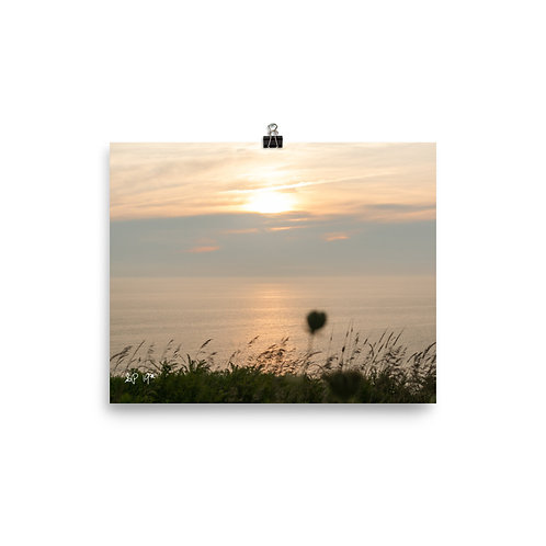 """""""last seconds of sun"""" Photo paper poster"""