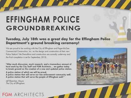 Effingham Police Department Groundbreaking!