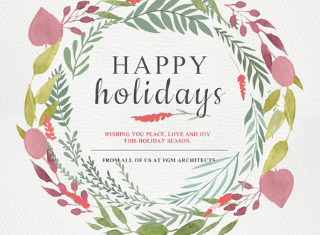 Happy Holidays From FGM Architects
