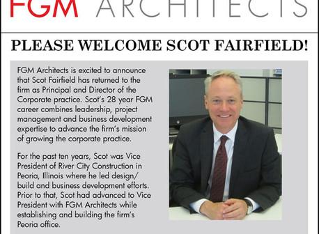 Welcome Scot Fairfield!