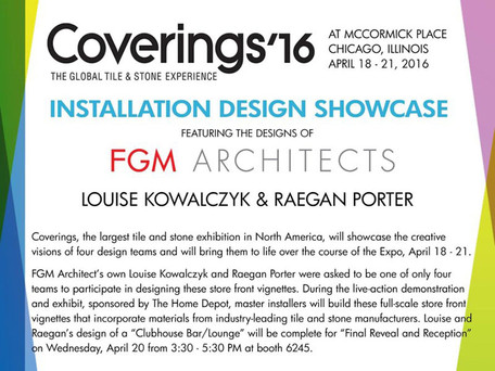 FGM Architects to Participate in Covering's Global Tile & Stone Experience Expo