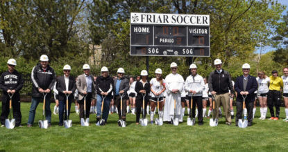 Fenwick Friars Break Ground for New Turf Field at Priory