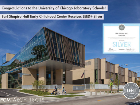 Congratulations! Earl Shapiro Hall Early Childhood Center Receives LEED® Silver