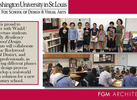 FGM Architects Partners with WashU architecture students & Rockwood School District