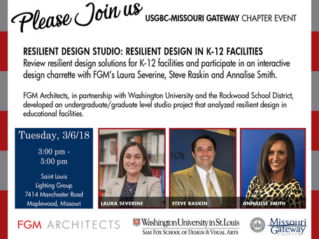 FGM Presents Resilient Design in PK-12 Facilities During Upcoming USGBC-Missouri Gateway Program