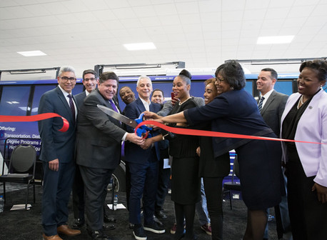 Illinois Governor & Chicago Mayor Open the TDL at City Colleges of Chicago's  Olive-Harvey College
