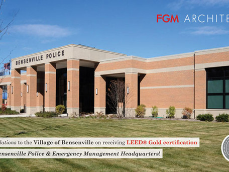 Bensenville Police & Emergency Management Headquarters Awarded LEED® Green Certification