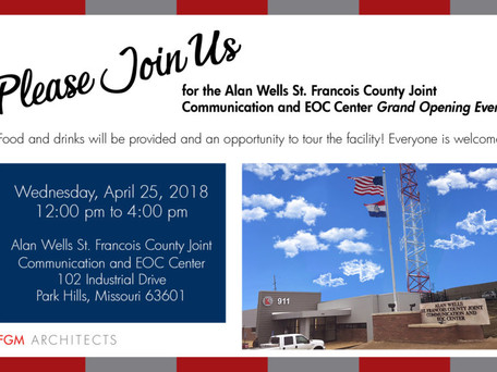 Alan Wells St. Francois County Joint Communication and EOC Center Grand Opening!
