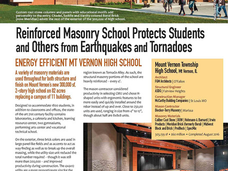 Mt. Vernon High School Resilient Design Featured in Current Issue of Smart Dynamics of Masonry