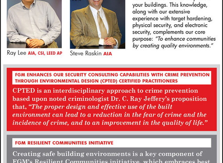 FGM enhances our security consulting capabilities with Crime Prevention Through Environmental Design