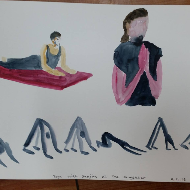 Simones's Paintings of class at Kingfisher