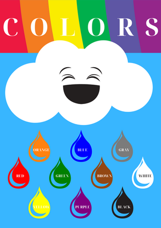 Learn Colors Poster
