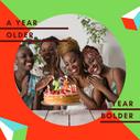 Green Orange Geometric Birthday Instagra