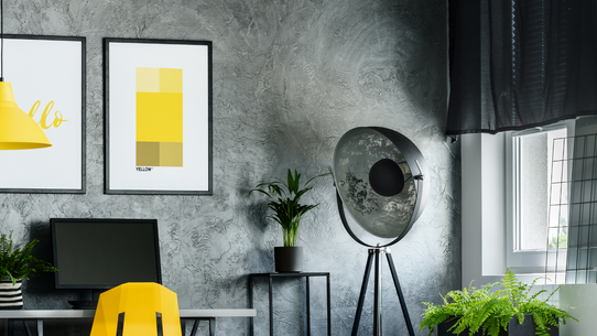 Yellow Office Poster