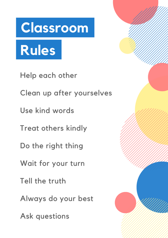 Classroom Rules Dots Poster
