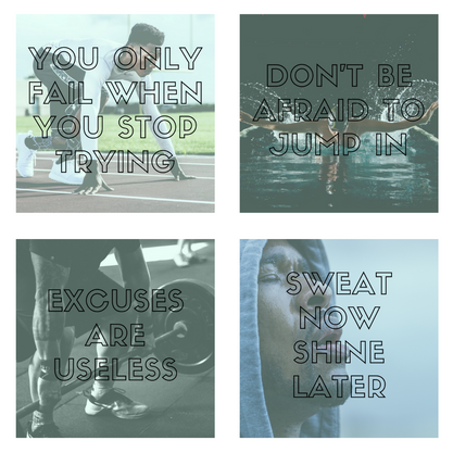 Gray Black Men's Fitness Instagram Posts