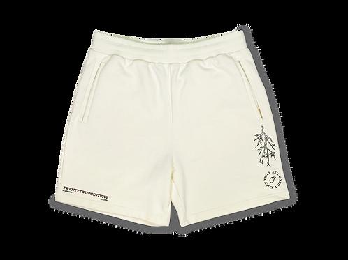 Heavy Soft Cotton Lightning Shorts Cream