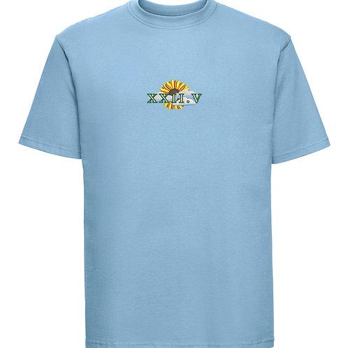 Sunflower Tee Sky Blue
