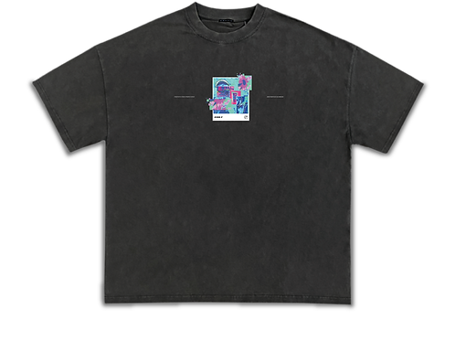 Distorted Vision Oversized Heavyweight Tee Ash