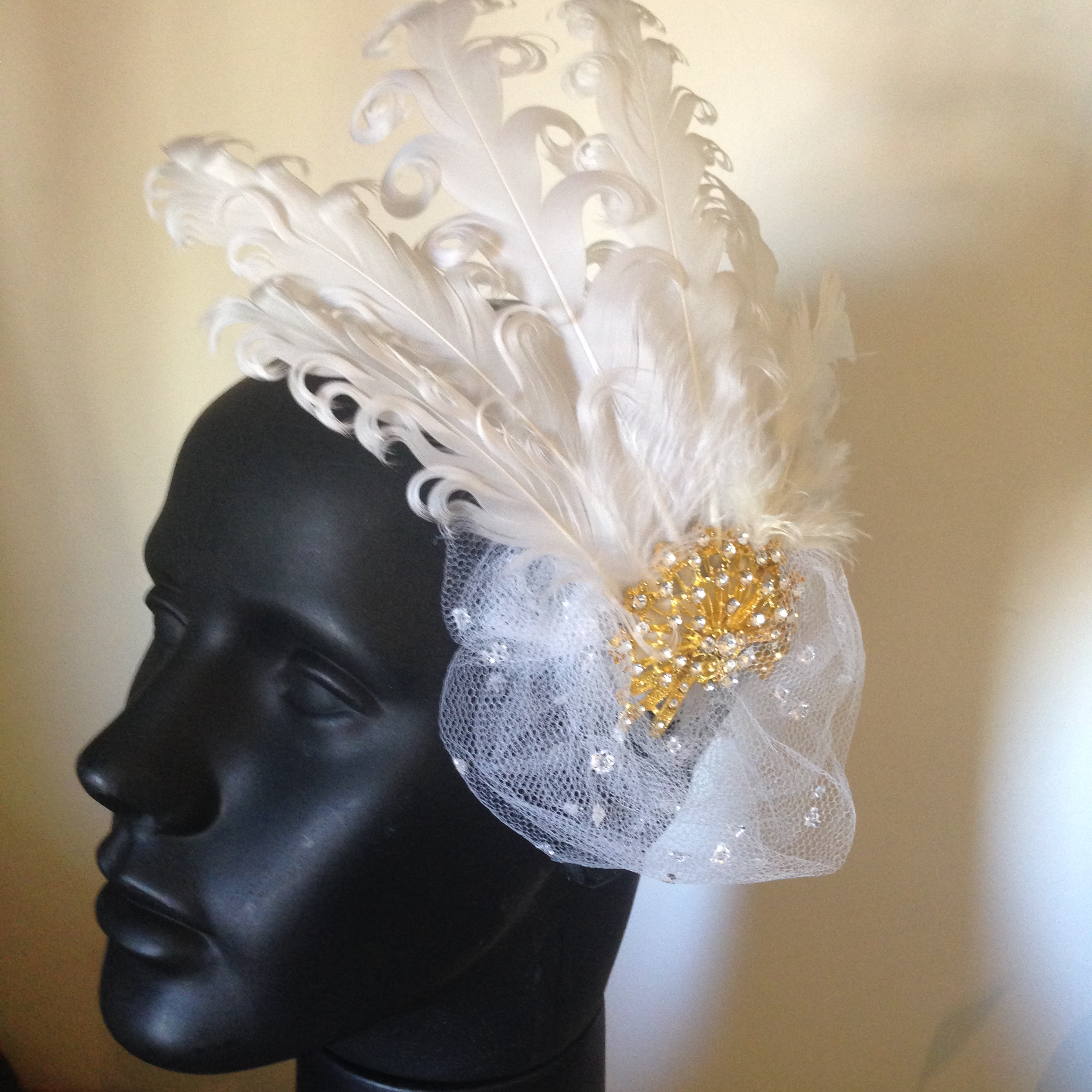 Fascinator Gold Bride