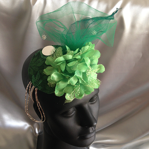 Fascinator Green Gigi