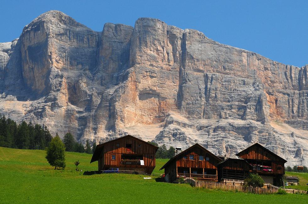 Alpine Hut under Sasso della Croce, Alta Badia, Dolomites, Italy..jpg
