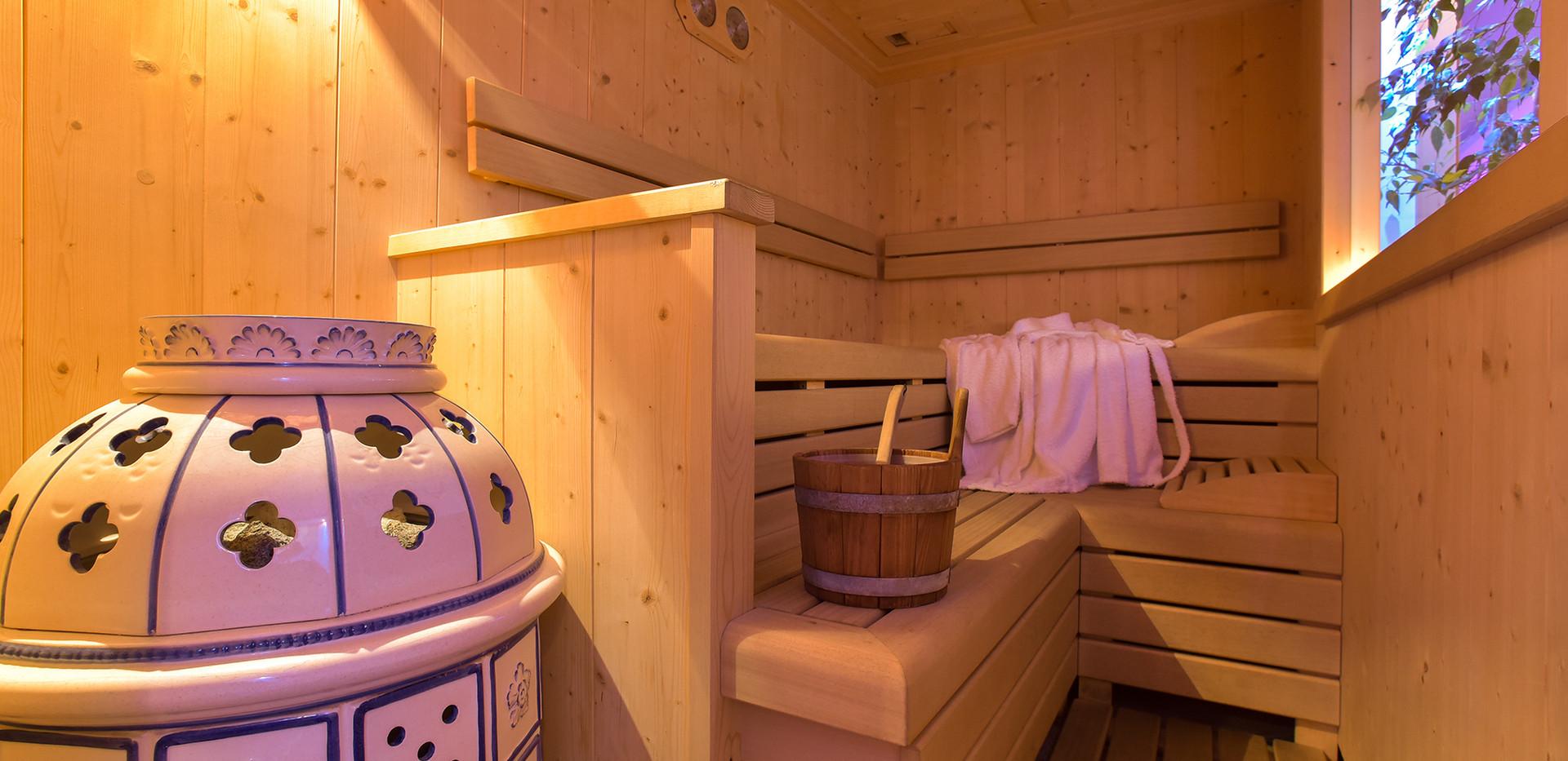 La nostra accogliente sauna