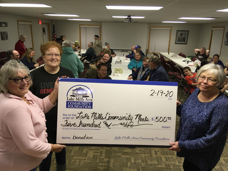 Donation to the Lake Mills Community Meal