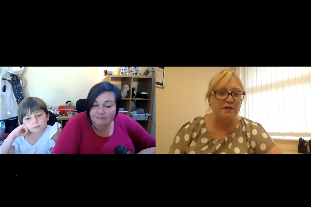 A screenshot of Zoe, Nic and Kerrie having a chat.