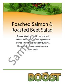 Sample feature menu item sign